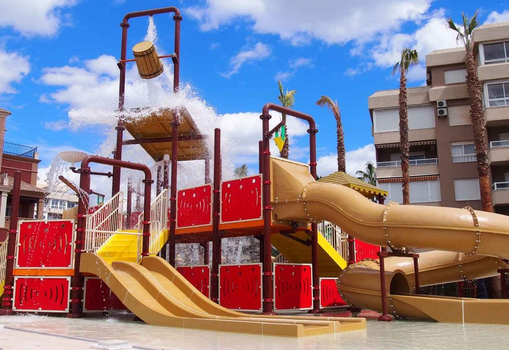 Moving Away From Traditional Hotel Spaces With Water Play Structures